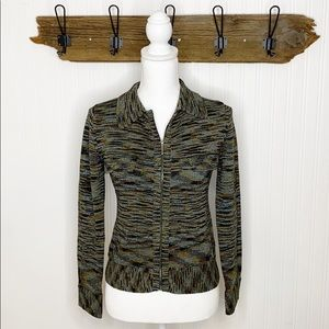 Margaret O'Leary Knit Sweater Zip Cardigan